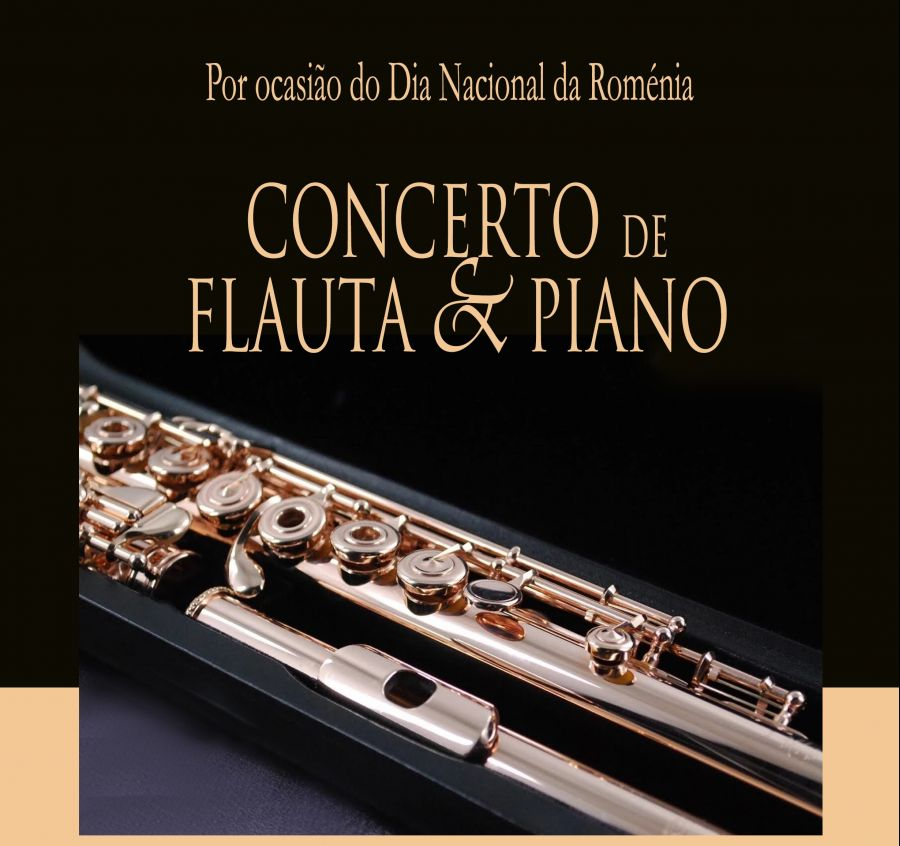 Concerto de flauta e piano por ocasião do Dia Nacional da Roménia