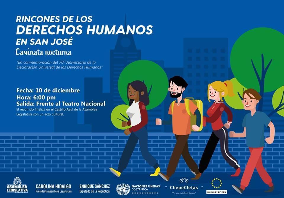 Caminata nocturana. Derechos humanos en San José