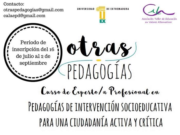 Curso de Experto/a Profesional en Pedagogías para una ciudadanía crítica