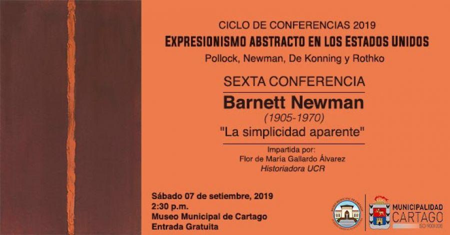 Sexta conferencia, expresionismo abstracto en Los Estados Unidos, la simplicidad aparente. Flor de María Gallardo. Historia del arte