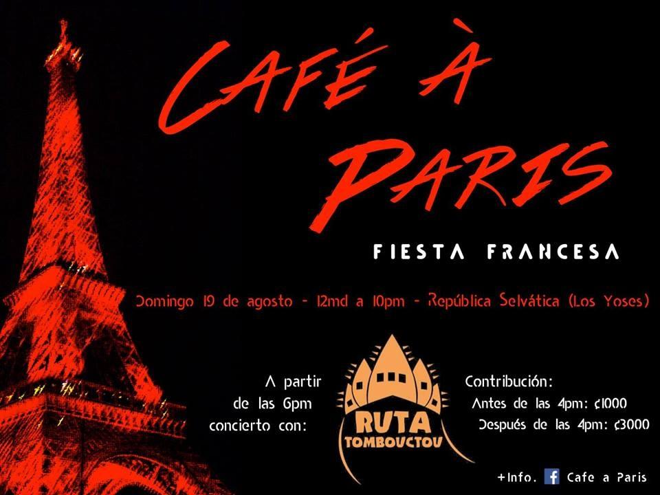Café à a Paris. Fiesta Francesa