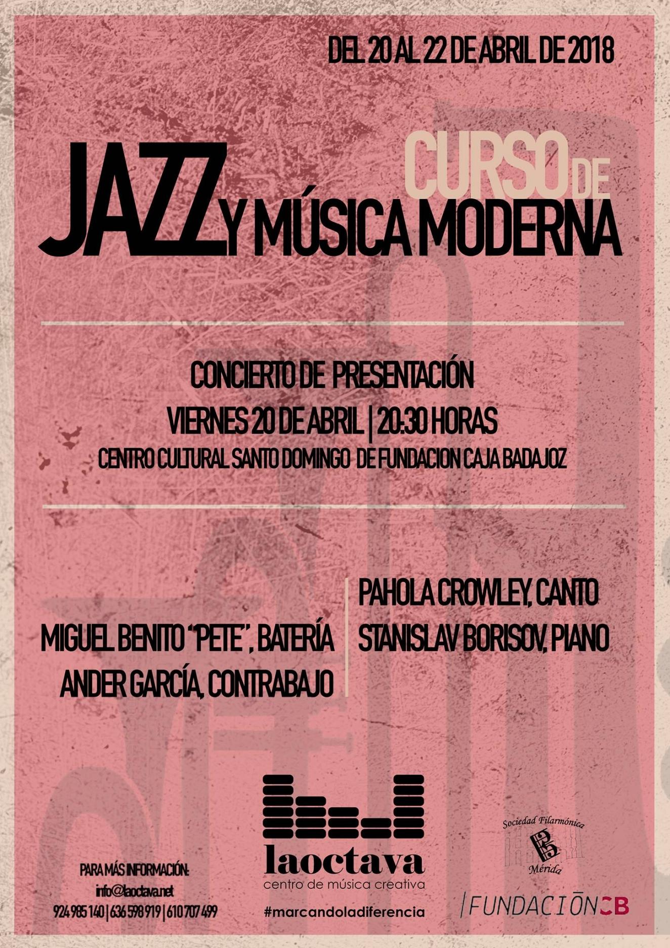 Concierto de presentación Curso de Jazz y Música Moderna