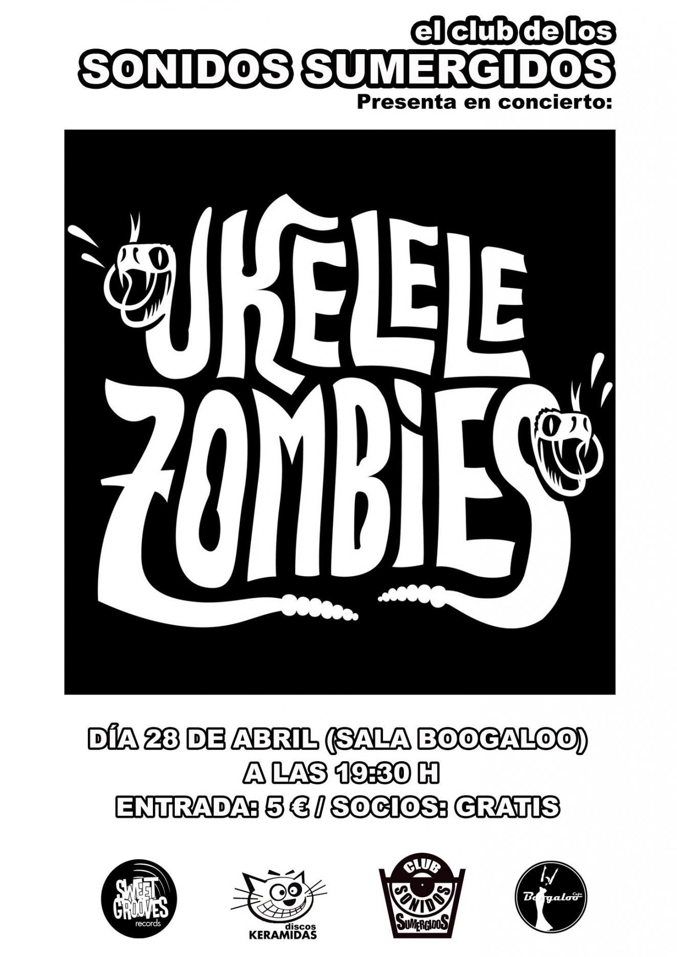 Concierto de UKELELE ZOMBIES. ¡Garage punk y rock 'n' roll en estado puro!