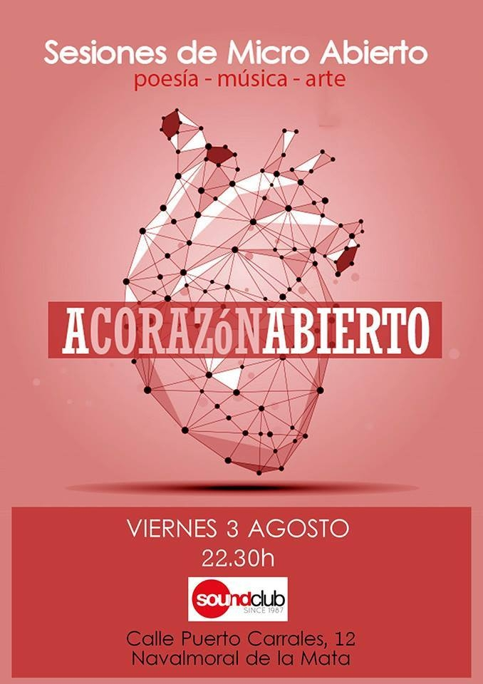 Sesión de micro abierto: «A CORAZÓN ABIERTO»