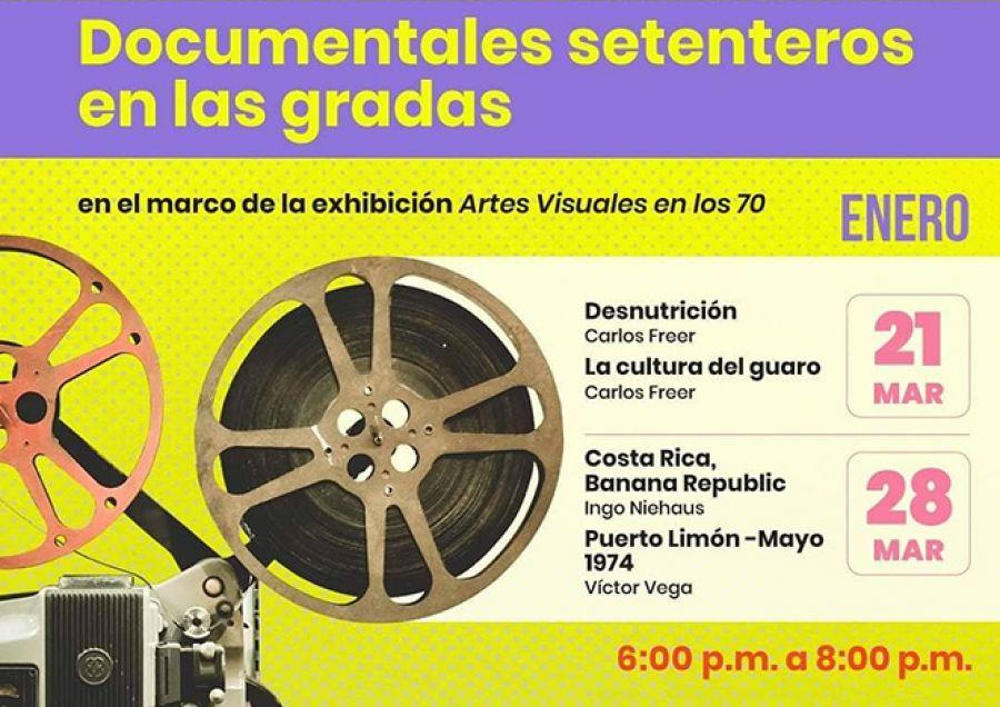 Documentales setenteros en las gradas. Costa Rica banana republic. Ingo Niehaus