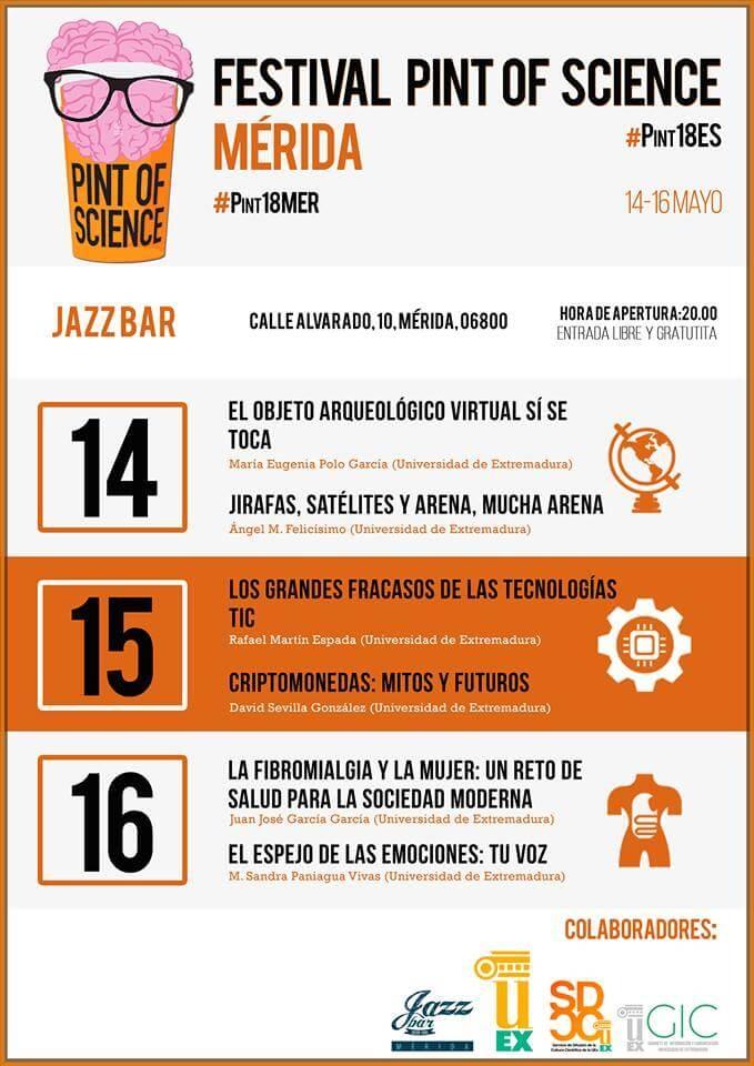 FESTIVAL PINT OF SCIENCE || JAZZ BAR (Mérida)