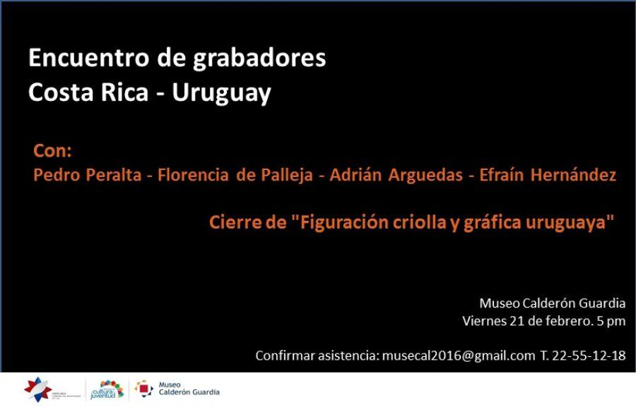 Encuentro de grabadores. Costa Rica-Uruguay