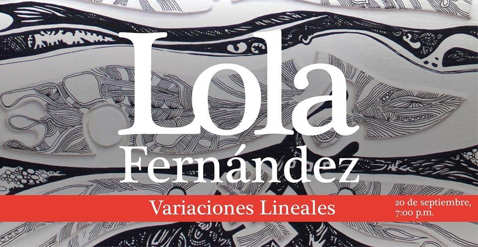 Inauguración. Variaciones lineales. Lola Fernández. Ilustración