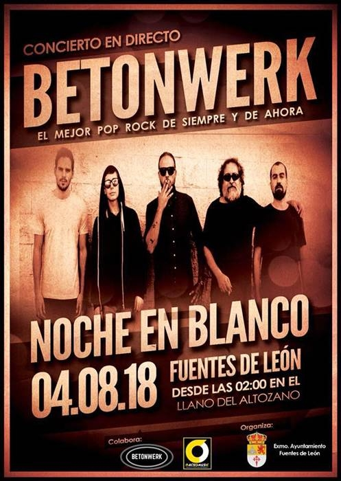 Concierto de Betonwerk || NOCHE EN BLANCO || Fuentes de León