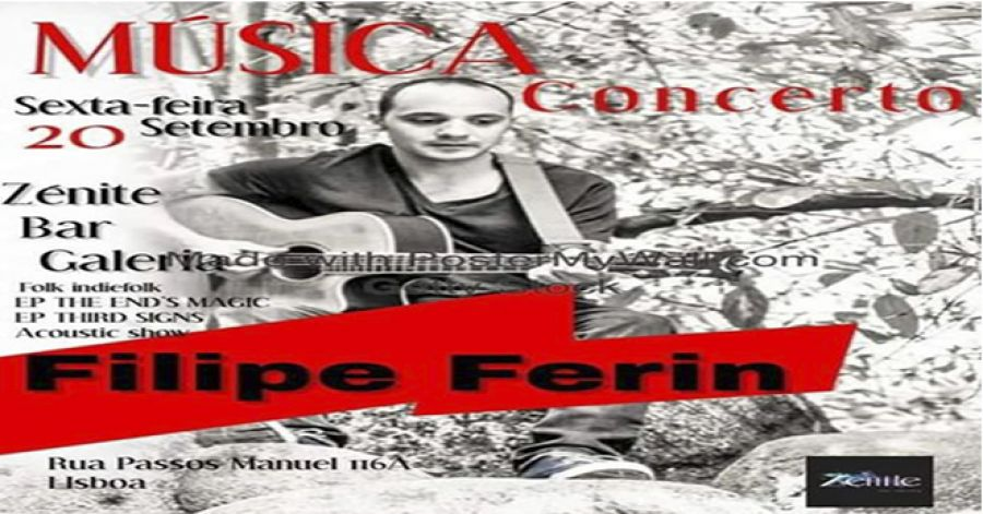 Filipe Ferin ao vivo no Zénite Bar Galeria