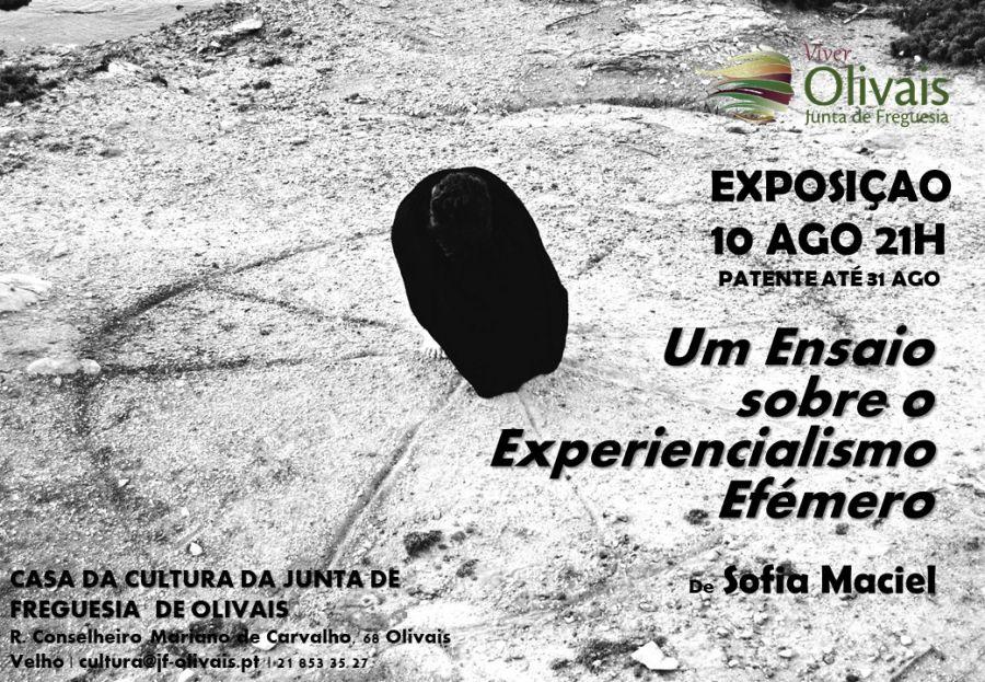 Exposição 'Um ensaio sobre o experiencialismo efémero' de Sofia Maciel