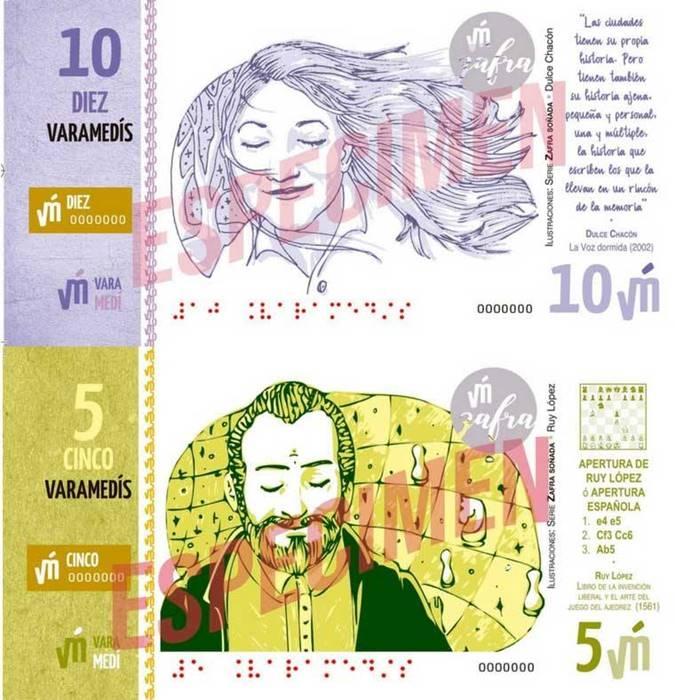 Lanzamiento billetes de 5 y 10 Varamedís. Torneo de Ajedrez. Venta de libros