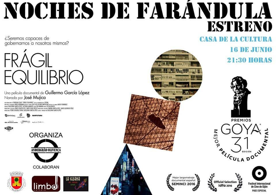 Proyección «Frágil equilibrio», de Guillermo García    Casa de Cultura de Olivenza