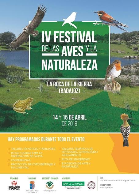 IV Festival de las Aves y la Naturaleza en ROCA DE LA SIERRA