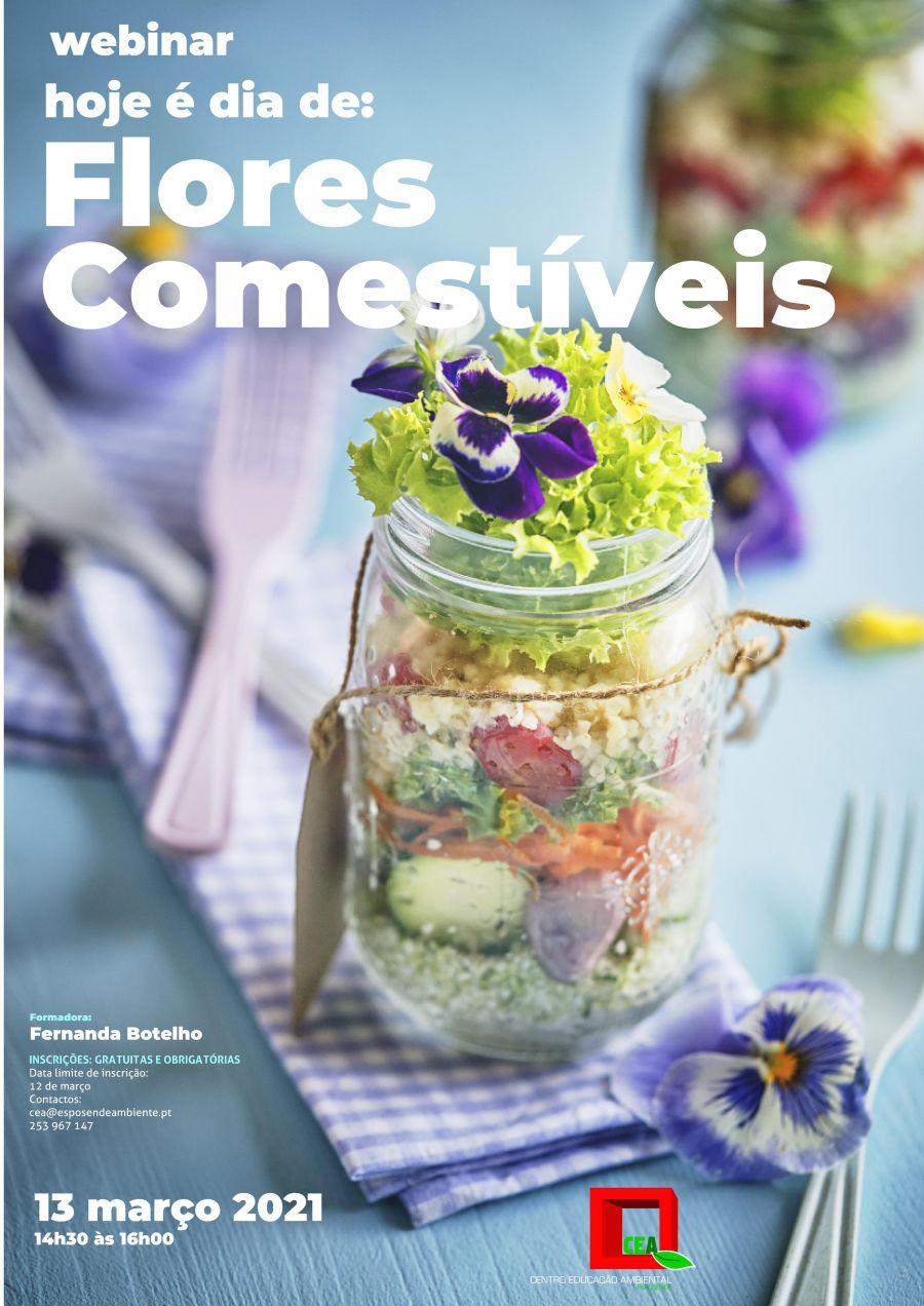 Webinar 'Hoje é dia de: Flores Comestívei'