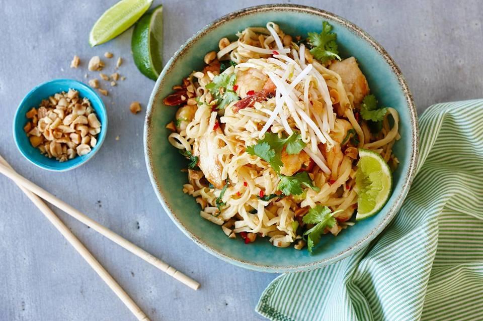 Menú completo de platillos thailandeses