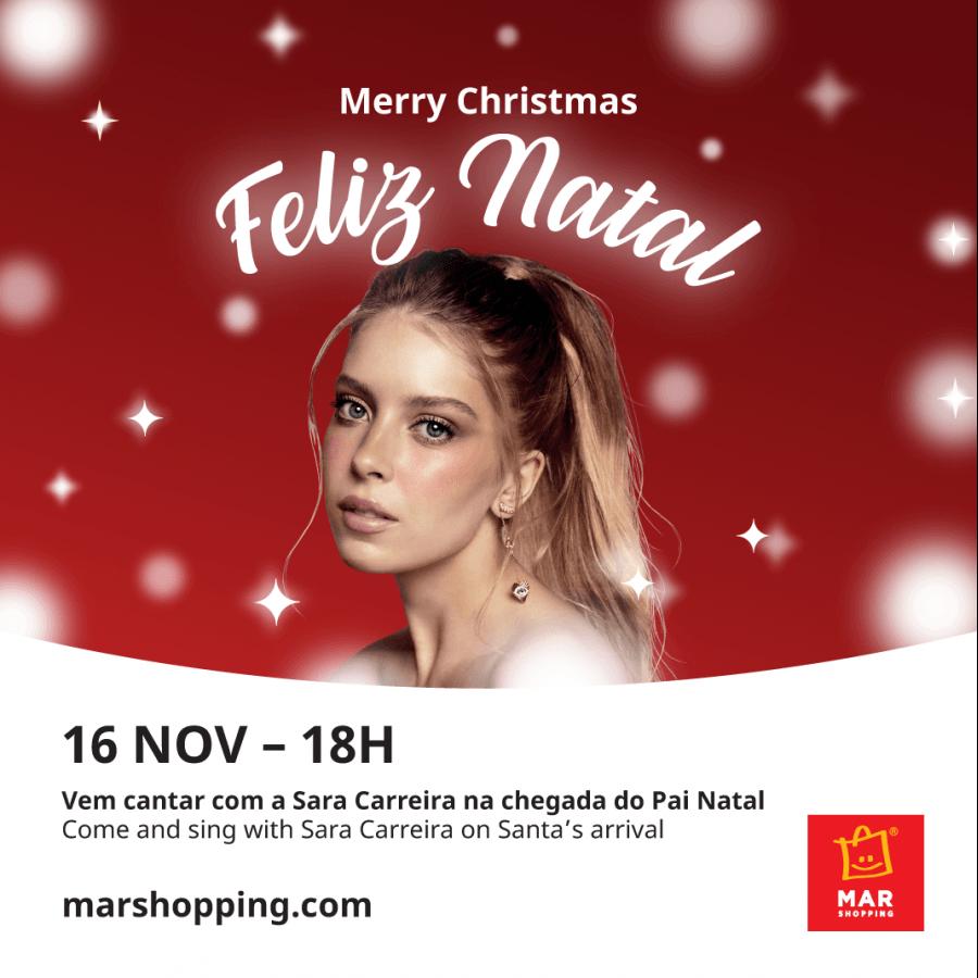 Sara Carreira convida aos festejos de Natal no MAR Shopping Algarve