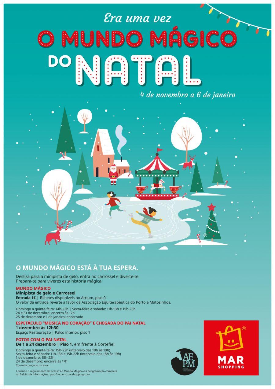 Minipista de gelo, carrossel e Música no Coração: um mundo mágico que se abre neste Natal no MAR Shopping Matosinhos
