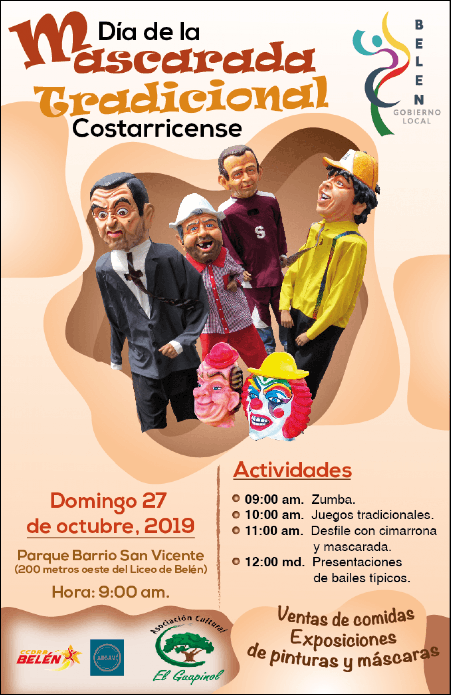 Día de la mascarada. Tradición costarricense