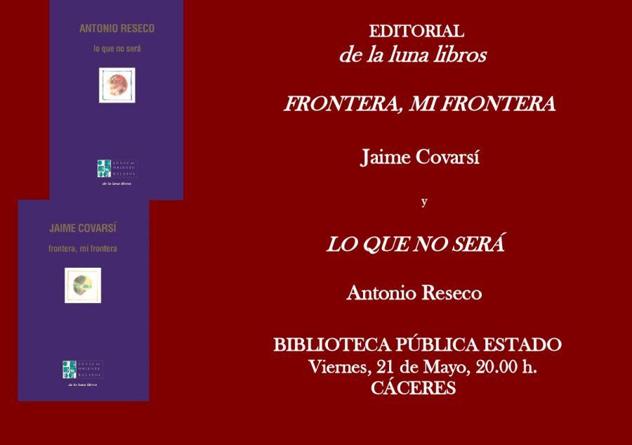 Presentación de los libros de Jaime Covarsí y Antonio Reseco en Cáceres