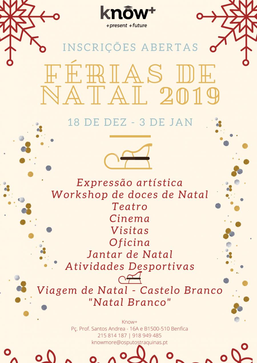 Know+ | Férias de Natal 2019