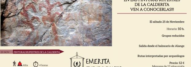Senderismo arqueológico en las pinturas rupestres de La Calderita ( La Zarza)