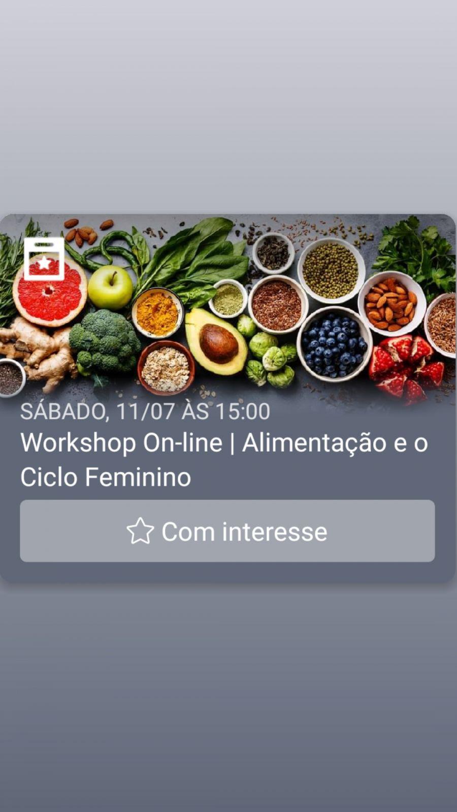 Workshop On-line | Alimentação e o Ciclo Feminino