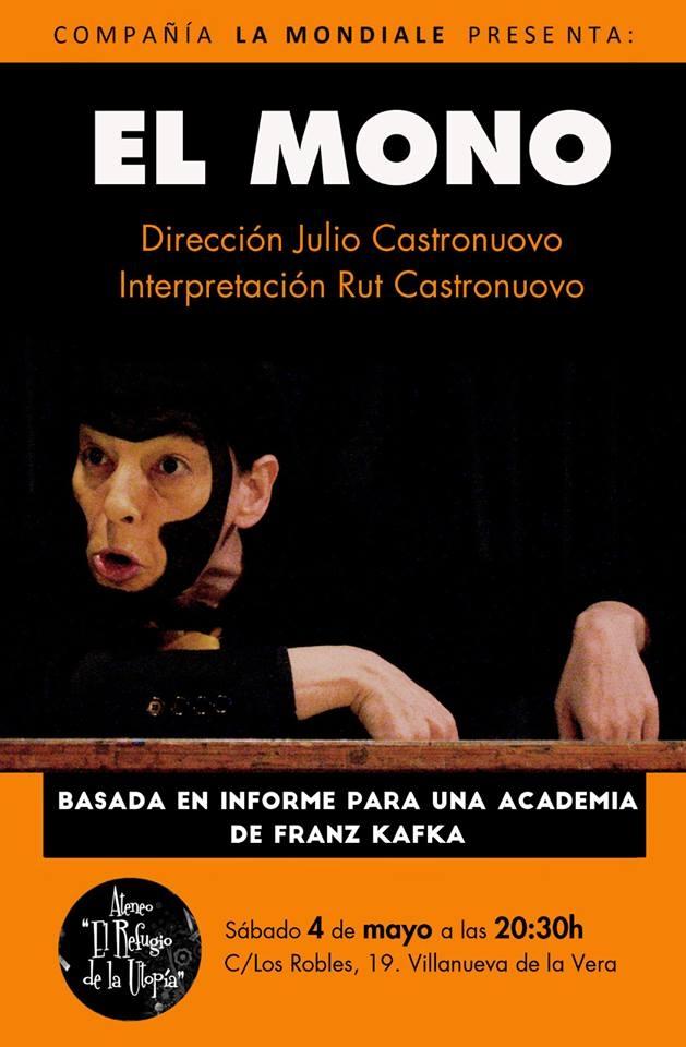 Teatro: EL MONO - Cía. La Mondiale | Ateneo El Refugio de la Utopía