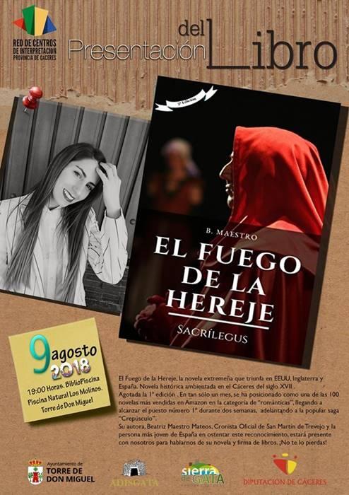 Presentación 'El Fuego de la Hereje', de Beatriz Maestro Mateos || Torre de Don Miguel