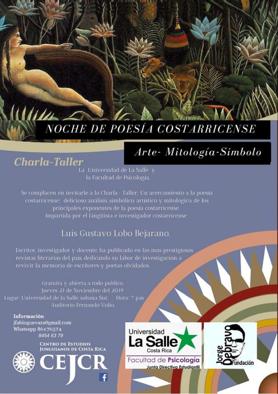 Noche de poesía costarricense. Luis Gustavo Lobo. Arte, poesía, símbolo