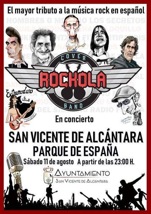 Concierto Cover Rockola Band || San Vicente de Alcántara