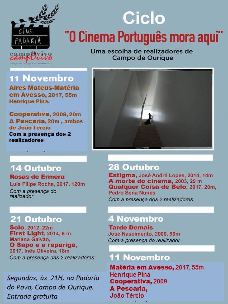 Última sessão do Ciclo O Cinema Português Mora aqui, uma escolha de realizadores de Campo de Ourique