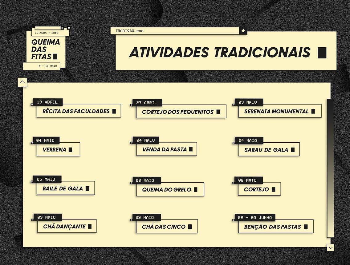 Actividade Tradicionais - Queima das Fitas de Coimbra 2018