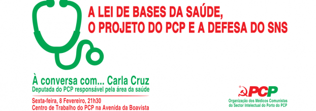 À Conversa com...Carla Cruz - A lei de bases de saúde, o projecto do PCP e a defesa do SNS