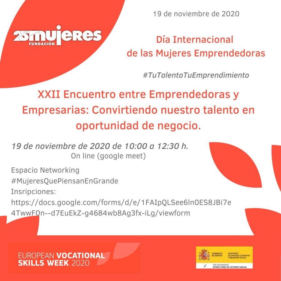 #TuTalentoTuEmprendimiento-XXII Encuentro entre Emprendedoras y Empresarias