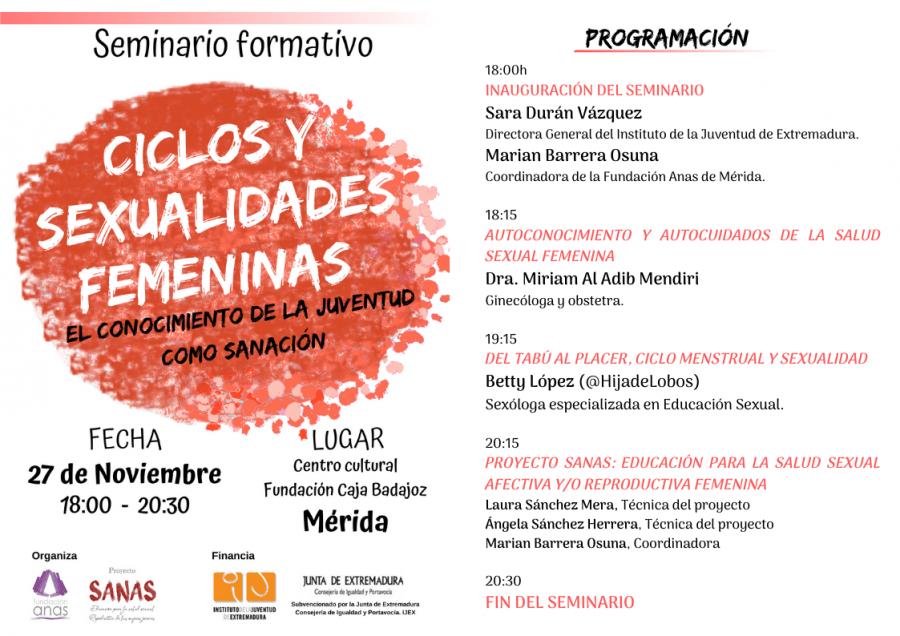 SEMINARIO CICLOS Y SEXUALIDADES FEMENINAS