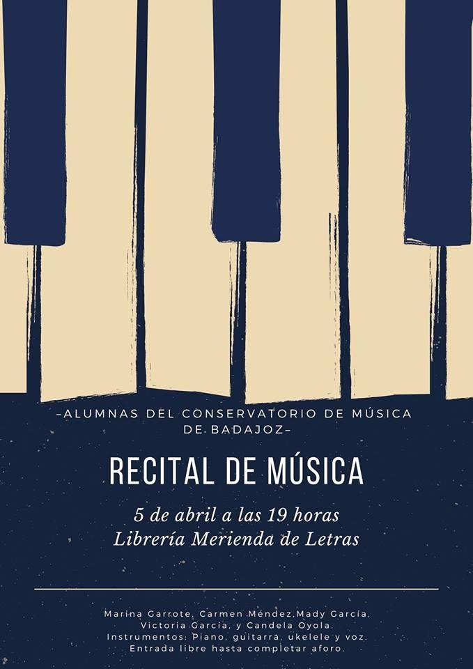 RECITAL DE MÚSICA | Librería Merienda de Letras