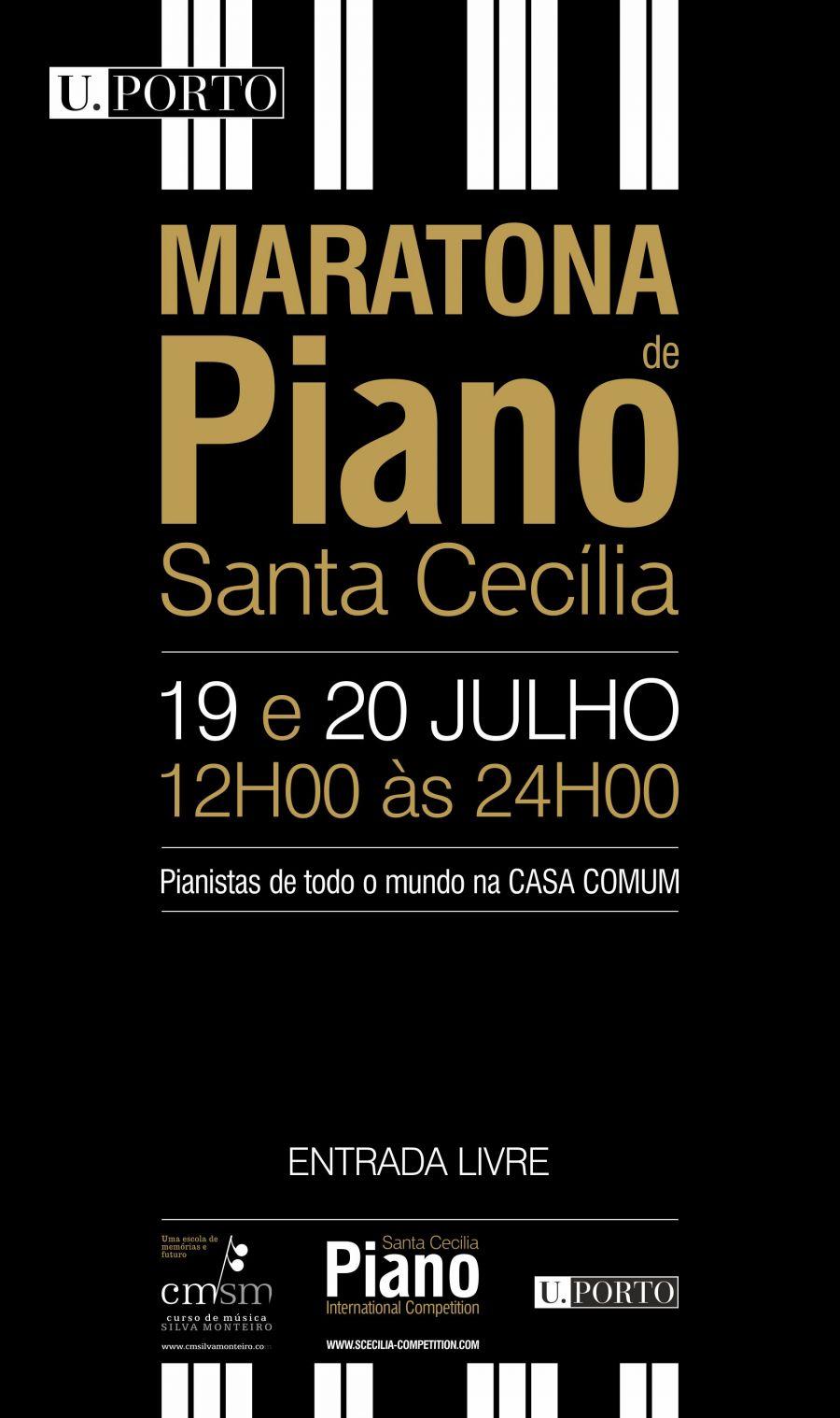 Maratona de Piano Santa Cecília no Porto