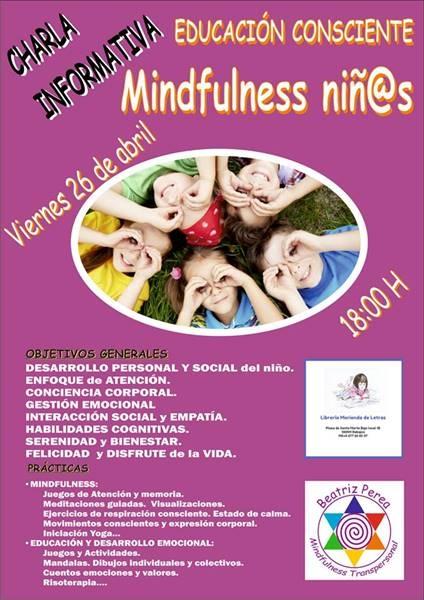 Charla informativa: educación consciente. Mindfulness niñ@s