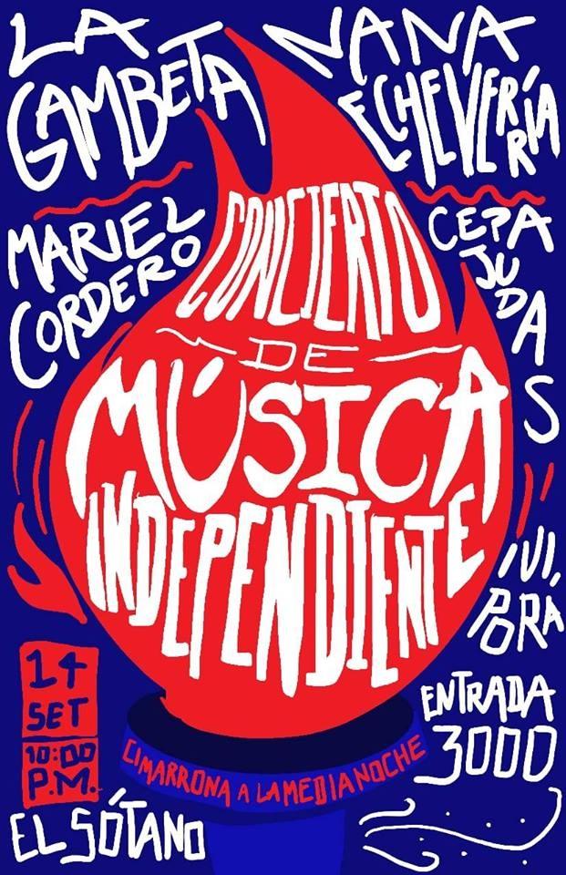 Fiesta de independencia, despedida. Cepa Judas y otros. Bandas y solistas, folk, alternativa y otros