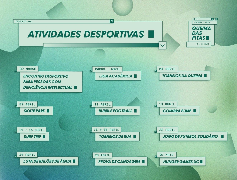 Actividades Desportivas na Queima de Coimbra 2018