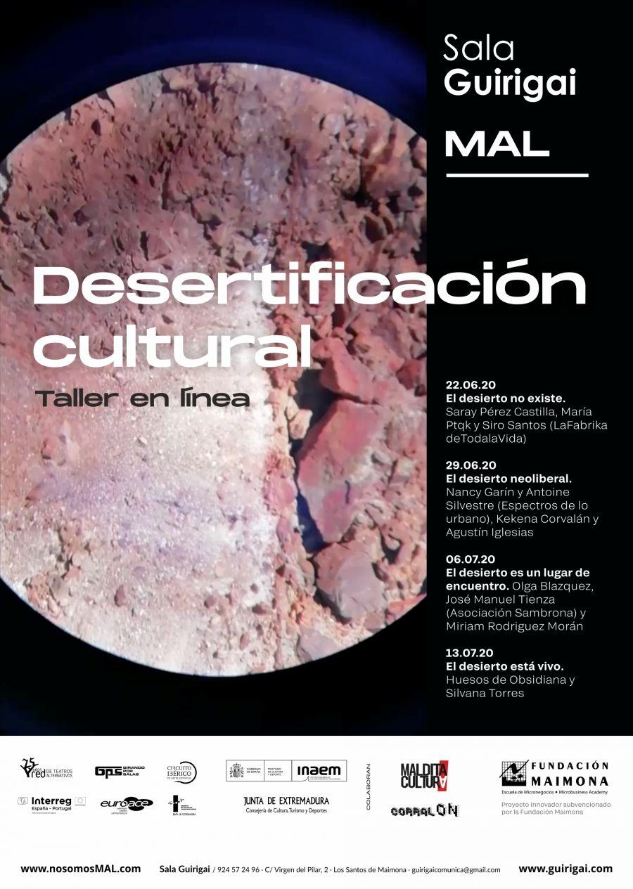 Desertifiación cultural. Taller en línea