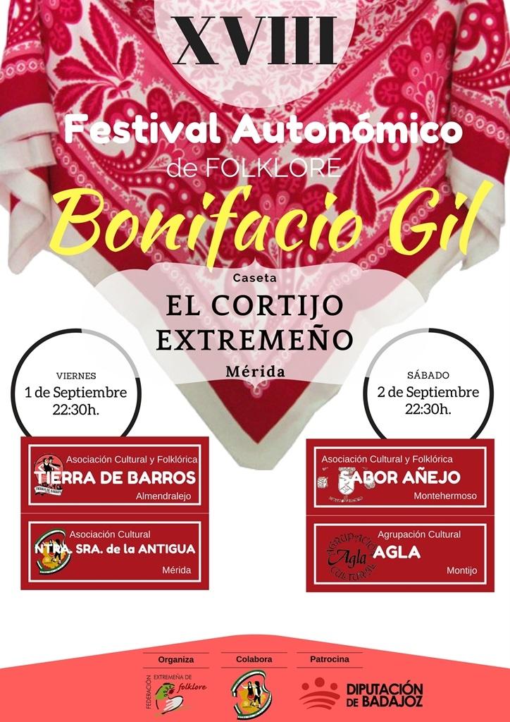 Festival de Folclore BONIFACIO GIL // Asociación Cultural y Folklórica Tierra de Barros y Asociación Cultural Nuestra Señora de la Antigua