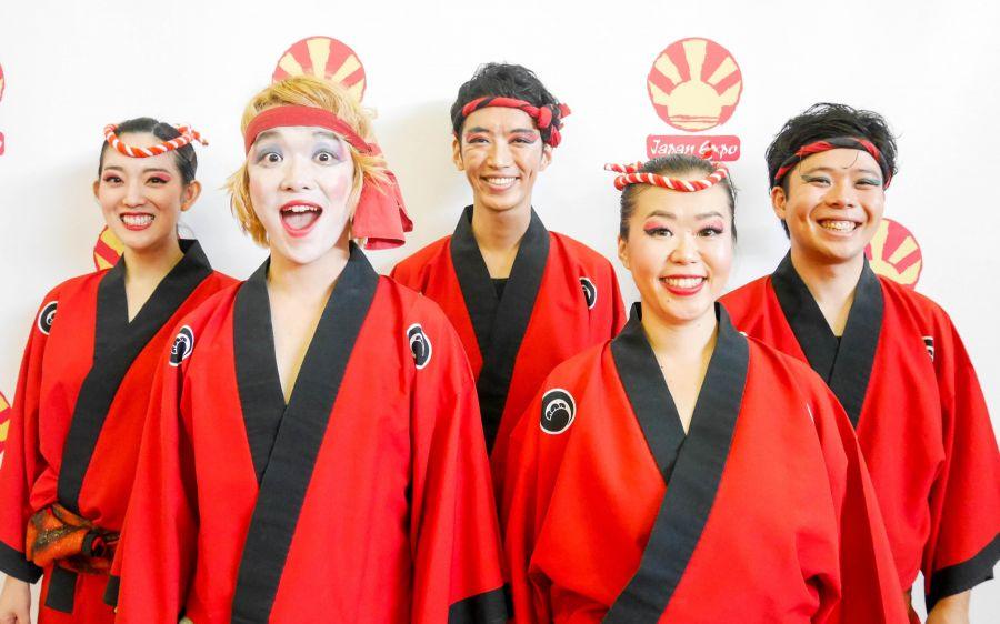 Takarabune. Awa Odori, bailarines y acompañantes musicales