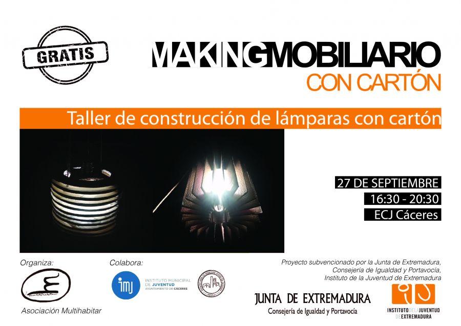 Makingmobiliario. Taller de construcción de lámparas con cartón