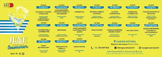 Casino Estoril oferece Música ao Vivo em junho no Lounge D