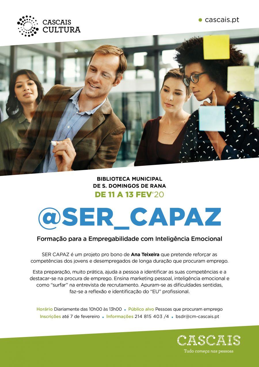 Workshop SER CAPAZ com inteligência emocional, na procura de emprego