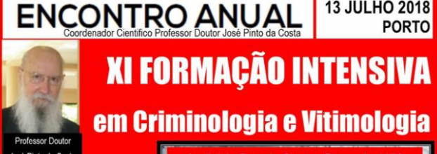XI Formação Intensiva em Criminologia e Vitimologia.
