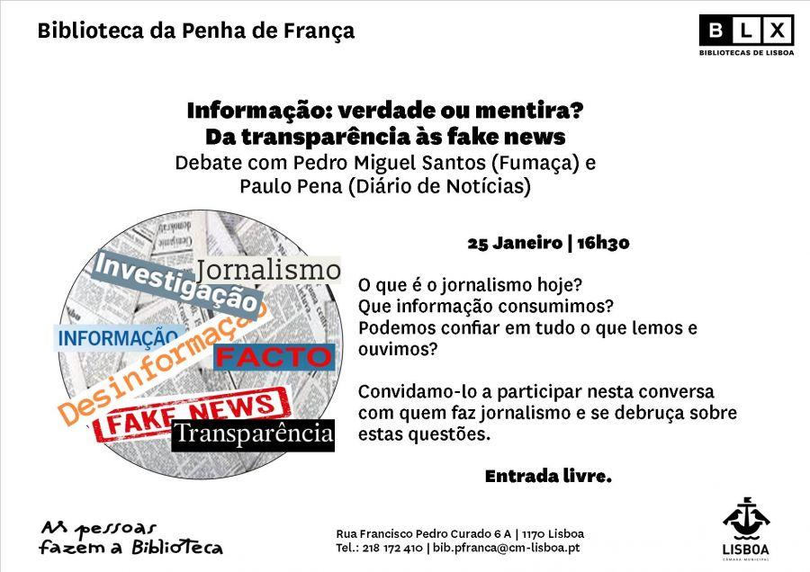 Informação: verdade ou mentira? Da transparência às fake news