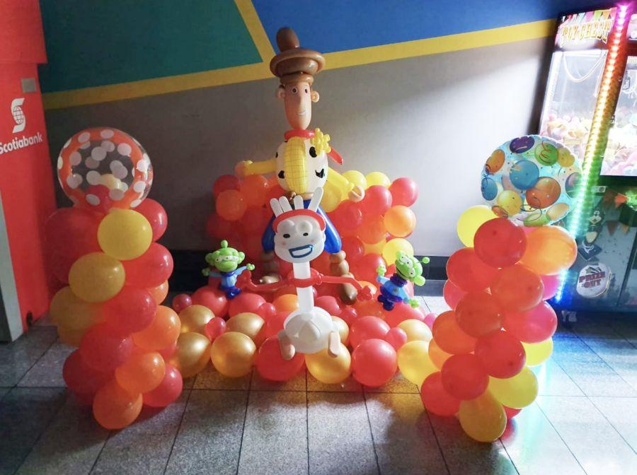 Globoflexia. Cupcakes y globos